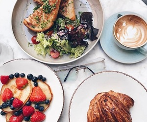 brunch, food, and toast image