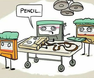 cassette, fun, and pencil image