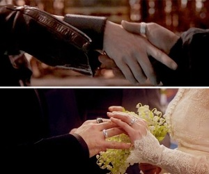 once upon a time, true love, and wedding image