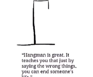 hangman and quote image