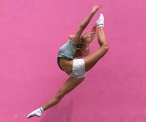 dance, gymnastics, and pink image