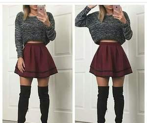 skirt, boots, and fashion image
