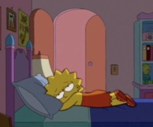 simpsons, lisa, and sad image