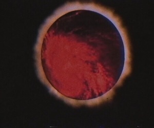 red, dark, and black image
