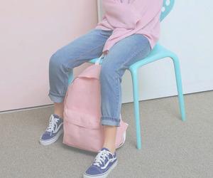blue, pink, and vintage image