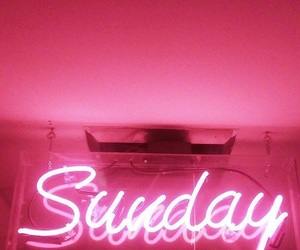 pink, Sunday, and neon image