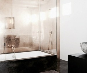 interior, bathroom, and gold image