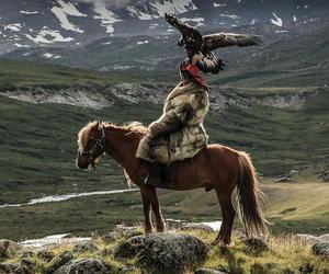 eagle, epic, and horse image