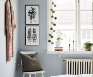 home decor and pale blue wallcolor image