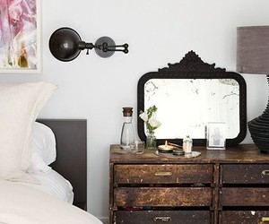 bedroom, home decor, and rustic image
