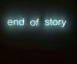 end, final, and neon image