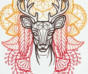 mandala, deer tattoo, and venado image