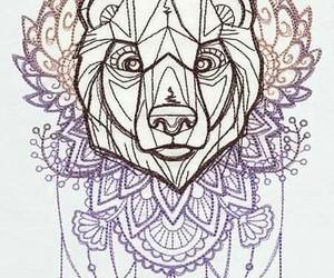 mandala, bear tattoo, and oso image