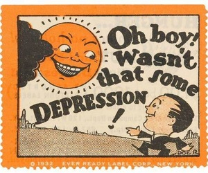 depression, orange, and vintage image