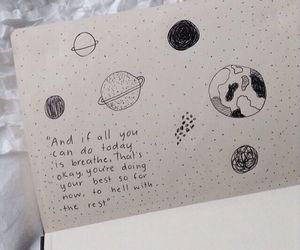 quotes, planet, and drawing image
