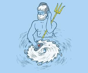 illustration, mythology, and ocean image