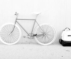 white, bike, and aesthetic image