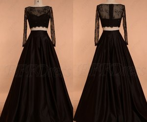 evening dresses, pageant, and black prom dress image