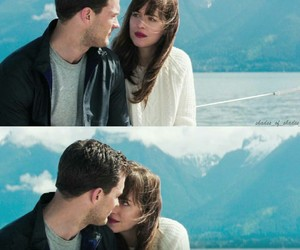 christian grey, fifty shades darker, and anastasia steele image