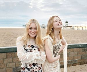 dakota fanning, Elle Fanning, and 20th century women image
