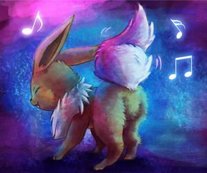 pokemon, eevee, and music image