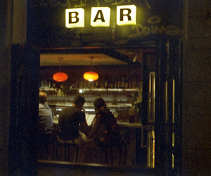bar, night, and love image