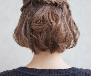 hair, short hair, and hairstyle image