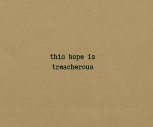 hope, typewriting, and Lyrics image