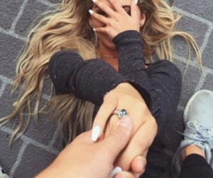 blonde, ring, and boyfriend image