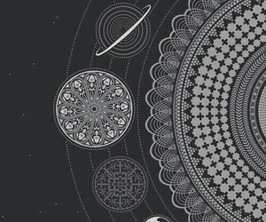 wallpaper, planet, and black image