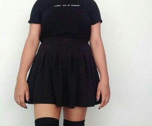 cool, all black, and fashion image