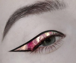 eye, eyebrow, and eyeliner image