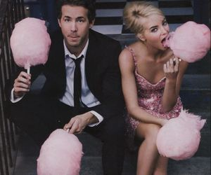couple, pink, and cotton candy image