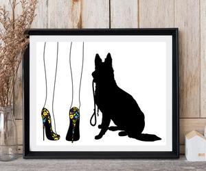 etsy, german shepherd, and Woman legs image