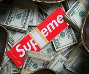 supreme and money image