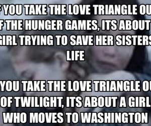 funny, the hunger games, and triangle image
