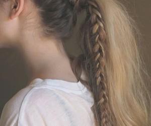 trenza, largo, and cabello image