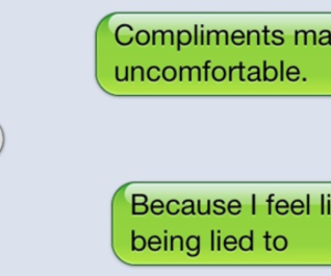 lies, compliments, and text image