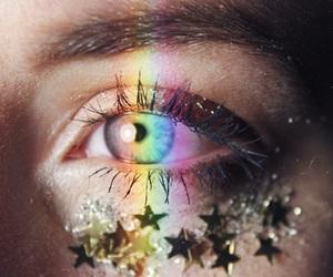 blue, eye, and stars image