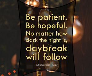 hopeful, patient, and quote image