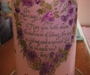 candle, glitter, and wedding image
