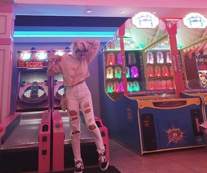 aesthetic, arcade, and fashion image