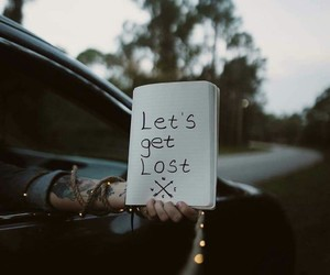 car, lost, and nature image