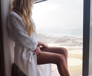 blonde, photography, and summer image
