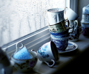 blue, cup, and cups image