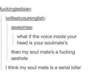funny, soulmate, and true image