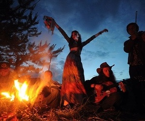 fire, hippie, and gypsy image