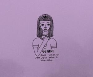 gemini, purple, and quote image