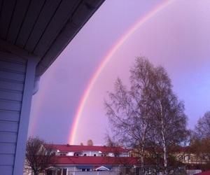 rainbow, sky, and tumblr image