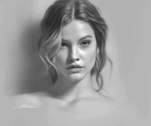 woman, art, and drawing image